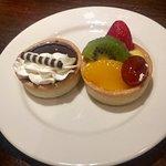 Chocolate Tart and Fruit Tart