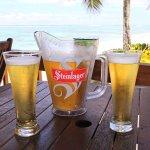 Sitting at the Beach Bar/Restaurant