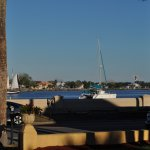 Sitting on the patio sipping a cool one and watching the sails go by!