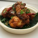 Tamarind wings (GF) Crispy wings, tamarind & palm sugar glace.