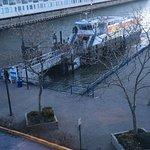 Ferry as seen from my hotel room window.