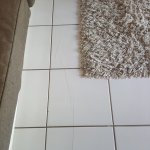 Cracked tiles in lounge