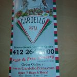 Cardello Pizza Menu