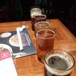 Try a flight of craft brews