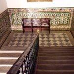 Hospital de los Venerables - stairwell, with its beautiful tile work