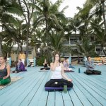 Yoga Class on the Beach Platform
