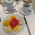 Morgenbuffet mit frischen Früchten
