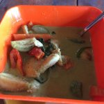 Thai Green Curry served in a plastic camping bowl???