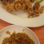 fermented fish fry with deep fried pig skin.