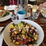 House Chopped Salad with Halloumi and Avocado