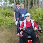 Our 80 year old mom was able to hike with us on this amazing Active Track Chair - free and fun