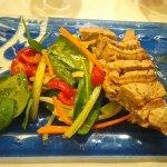 Tuna Steak main course.
