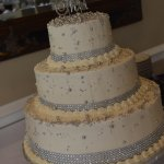 Wedding cake. Vanilla with a buttercream frosting.