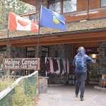 Entrance to Maligne Canyon Restaurant and Gift Shop