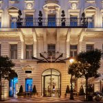 Aria Hotel Budapest Front Entrance at Dusk  (294526480)