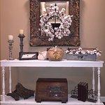 A sofa table/foyer table built by Chic Artique.
