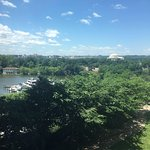 The view from our room with a peek of the Jefferson Memorial
