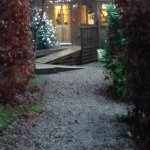 A fairytale view of our home for the weekend!