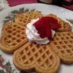 Pumpkin waffles - DELICIOUS!