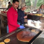 Breakfast at the Adobe with the gigantic pancake!