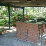 A number of covered BBQ areas are available. Scrape clean after use, and staff clean fully.