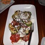 Zucchini, tomato and goat cheese