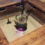 冬の寒い時期は、囲炉裏にあたってお休み頂けますよ(@^▽^@)