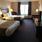 Comfort Inn DeForest guest room.