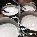 In YAM YAM Restaurant, We use Natural Coconut Milk hand press only.