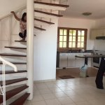 the 2-bedroom chalets are 2 storeys. Master bedroom (with bathtub) above w/ another bedroom belo