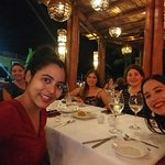 With my friends at the Luna restaurant, the best food in the resort