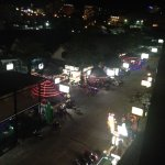 Night time view of Otop market and some bars