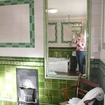 Large bathroom with decorative tile work