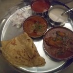 Chicken masala thali