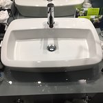 Bathroom sink - Very limited space for toiletries