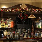 Bar decorated for Christmas