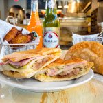 Empanadas, sweet plantains and Cuban sandwich