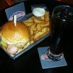 Casino Sports Bar burger meal