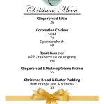 Our Christmas Inspired Menu available until 31 December 2017