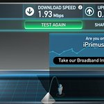 Actual Wi-Fi speeds provided by Motel done at the same location..
