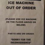 ICE MACHINE - bezeichnend für den Hotelzustand