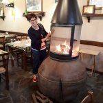 Warming up at Neraida Restaurant Foini