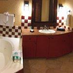 Master jacuzzi tub, vanity and closet