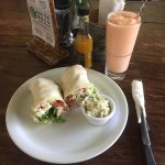 wrap and smoothie