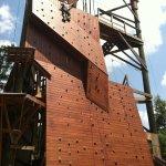 Climbing wall at Banning Mills