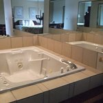 Large Jacuzzi tub in one of our suites