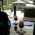 Rum punch in reception upon arrival