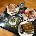 Nice coffees and walnut cake !
