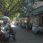 Ocean Grove's Main Ave. is filled with quaint boutiques and outdoor cafes.