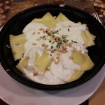 Ravioles gorgonzola et noix  Tiramisu